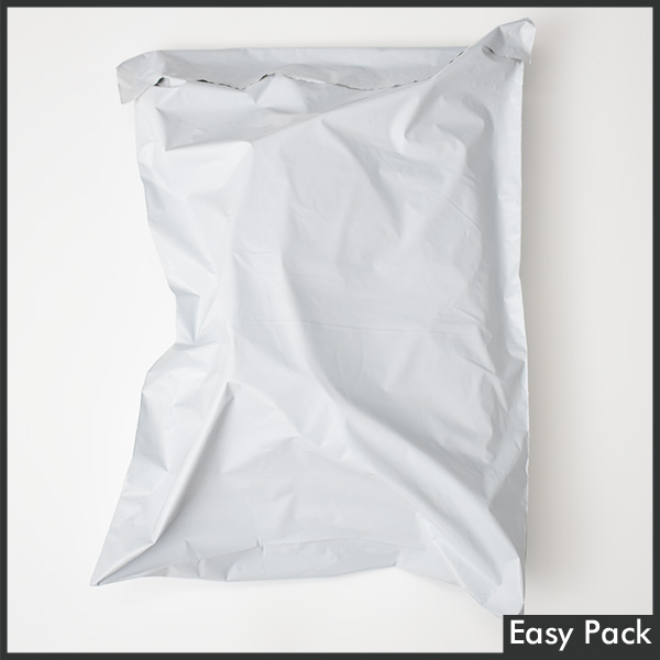 【PB2-LL-WH】【法人様宛は送料無料】宅配ビニル袋 PE0.06mm 色:ホワイトグレー / サイズ LL  (縦480mm × 横380mm + 折返50mm)