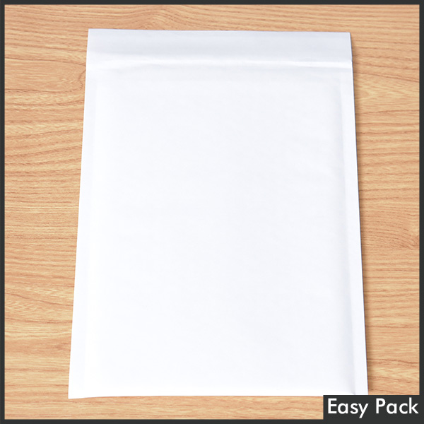 【K41-WH】 【法人様宛は送料無料】 紙クッション封筒 色:ホワイト / サイズ:40 (縦305mmX横205mm)