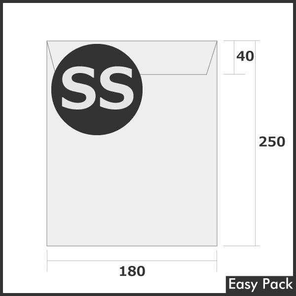 【2箱以上セット】 【法人様宛は送料無料】宅配ビニル袋 PE0.06mm 色:ホワイトグレー / サイズ SS  (縦250mm × 横180mm + 折返40mm)