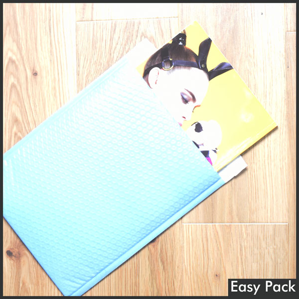【法人様宛は送料無料】 耐水ポリビニルクッション封筒スリムタイプ 色:パープルブルー / サイズ:60 (縦320mmX横260mm)
