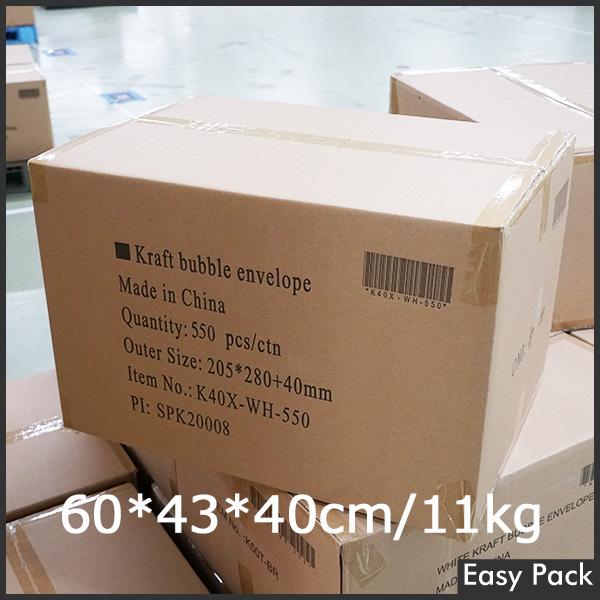 【法人様宛は送料無料】 紙クッション封筒スリムタイプ 色:ホワイト / サイズ:40 (縦280mmX横205mm)