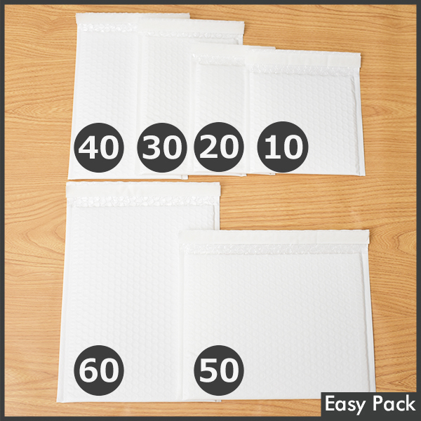 【法人様宛は送料無料】 耐水ポリビニルクッション封筒スリムタイプ 色:ホワイト / サイズ:30 (縦254mmX横190mm)
