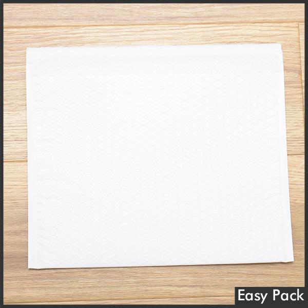【50X-WH-380】 【法人様宛は送料無料】 耐水ポリビニルクッション封筒スリムタイプ 色:ホワイト / サイズ:50 (縦228mmX横312mm)