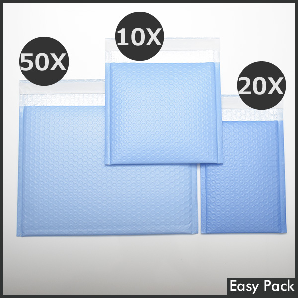 【法人様宛は送料無料】 耐水ポリビニルクッション封筒スリムタイプ 色:パープルブルー / サイズ:20 (縦200mmX横150mm)