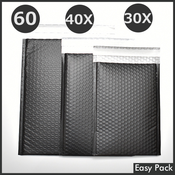 【50X-BK-380】 【法人様宛は送料無料】 耐水ポリビニルクッション封筒スリムタイプ 色:ブラック / サイズ:50 (縦228mmX横312mm)