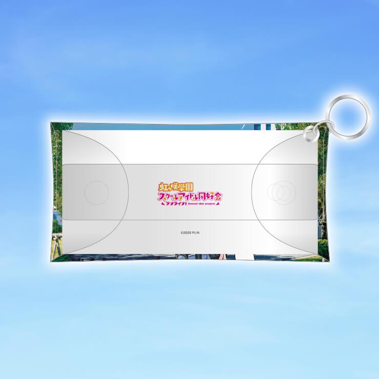 虹ヶ咲×お台場トレイン クリアマルチケース+ストラップセット りんかい線