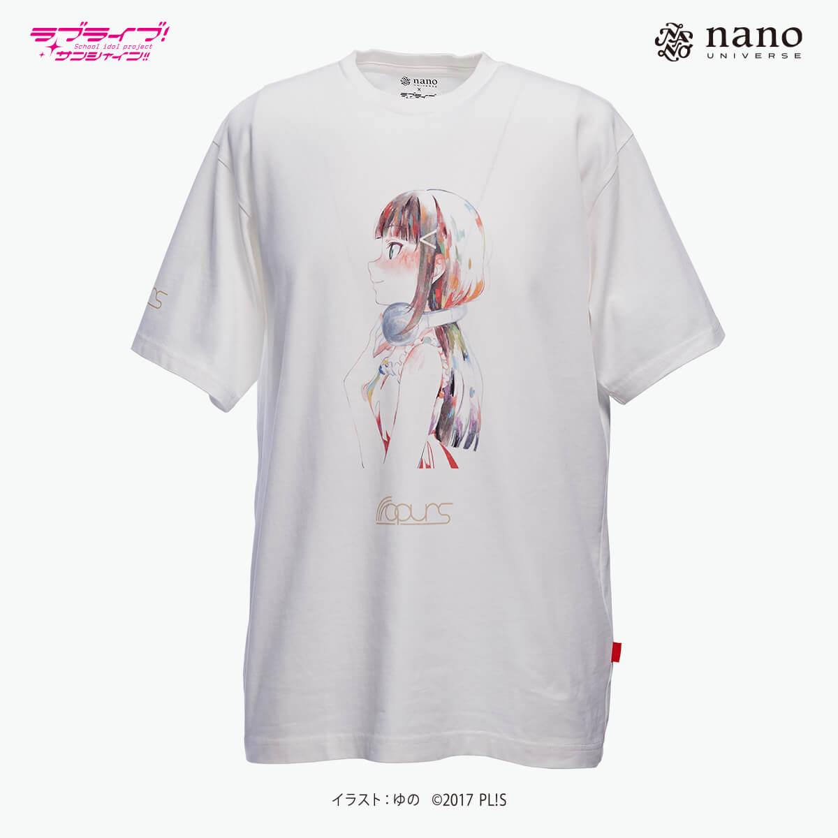 [ナノ・ユニバースコラボ] ナノ・ユニバース×ラブライブ !サンシャイン!!ナノファインTシャツ【黒澤ダイヤ】