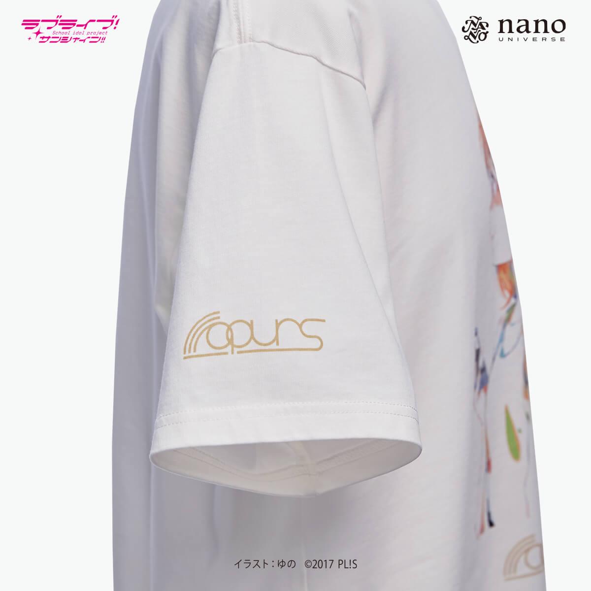 [ナノ・ユニバースコラボ] ナノ・ユニバース×ラブライブ !サンシャイン!!ナノファインTシャツ【渡辺曜】