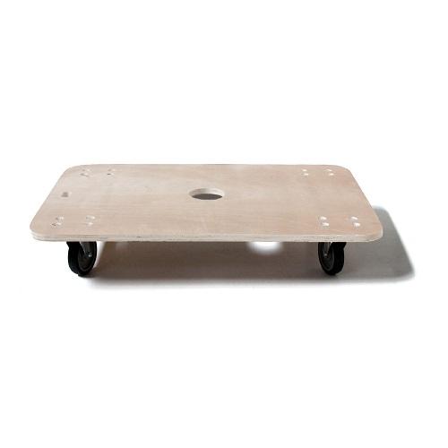 【日本製】木製平台車 ブレーキ付き 900×600mm キャスター径100mm
