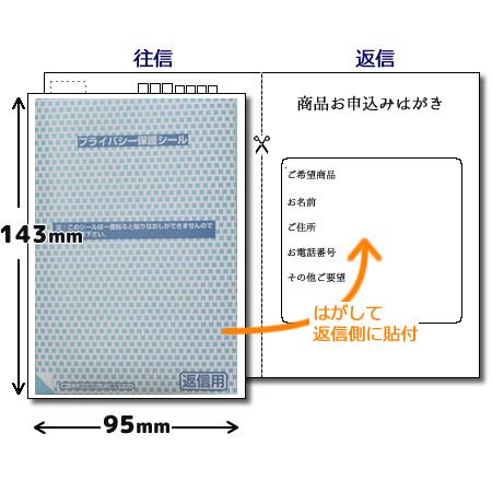 プライバシー保護シール 返信用 95×143mm 150枚