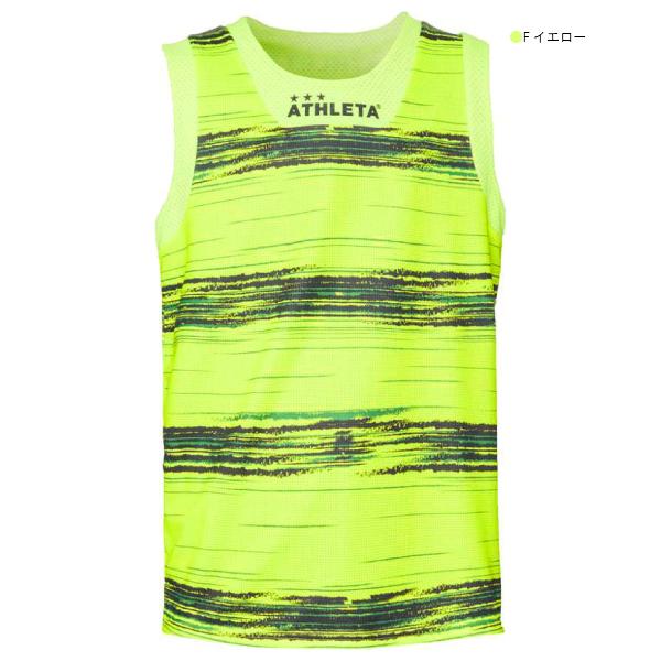 ATHLETA(アスレタ) ボーダープラクティスノースリーブシャツ 01089