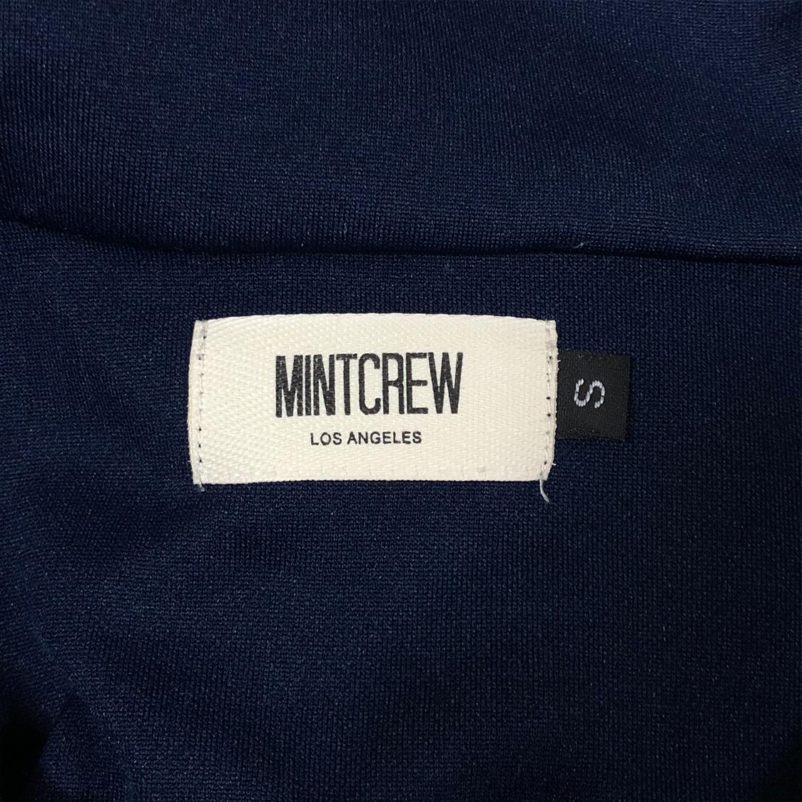 MINT CREW ミントクルー 【Sサイズ】 トラック ジャケット ジャージ ネイビー サイドライン / mnml
