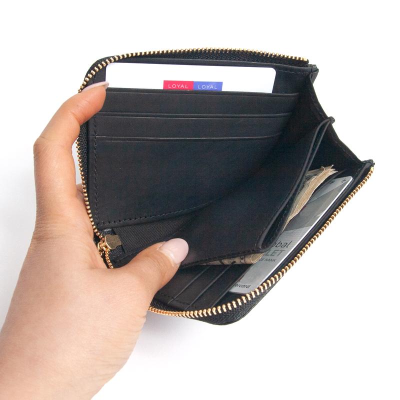 新品 木梨サイクル kinashicycle コンパクト財布 ブラック / キーケース コインケース パスケース キーホルダー サイフ カードケース