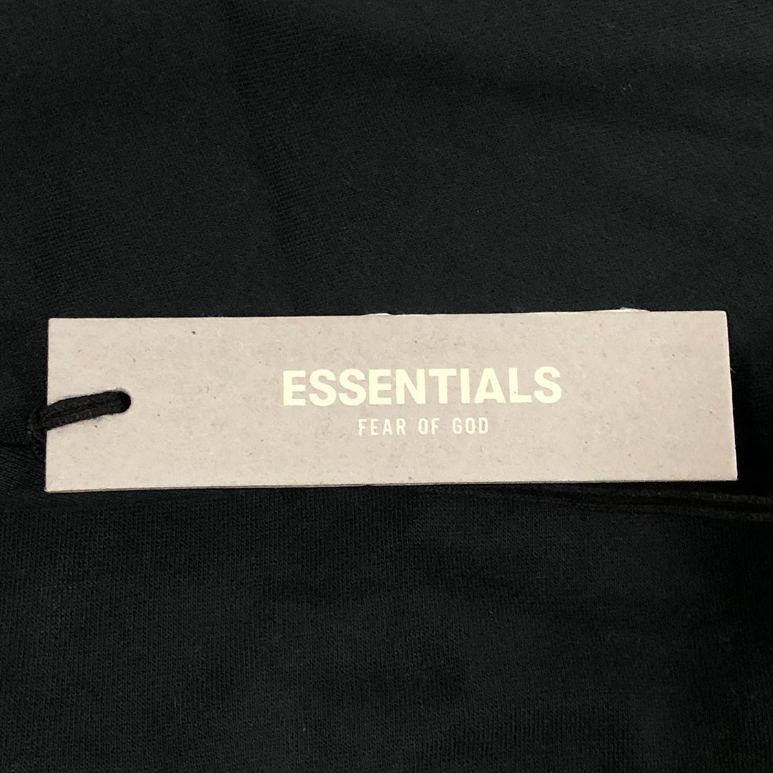 2020新作 新品 FOG Fear Of God Essentials フェアオブゴッド エッセンシャルズ 【Lサイズ】 LOGO パーカー フーディ エッセンシャル BLACK ブラック フォグ