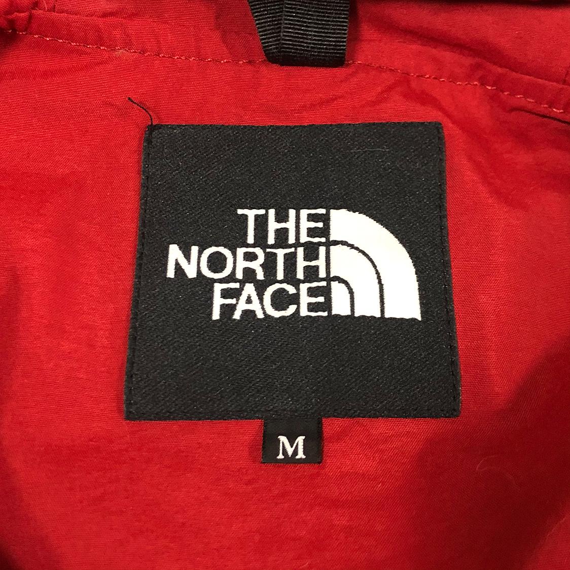 THE NORTH FACE ザ ノースフェイス【Mサイズ】プルオーバー ジップ ナイロン パーカー フーディ レッド