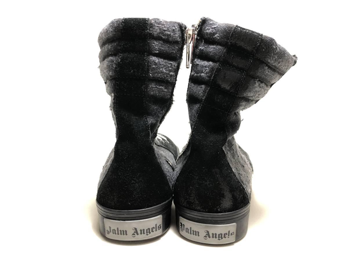 palm angels パームエンジェルス ハイカット スニーカー サイドジップ 41 ブラック