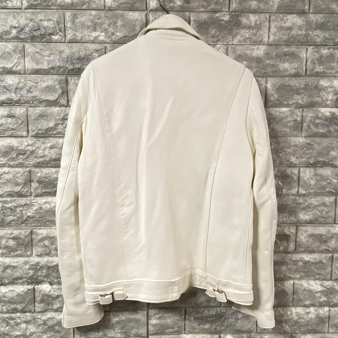 新品 LEWIS LEATHERS ルイスレザー REAL McCOY'S リアルマッコイズ別注モデル 【サイズ38】 ディアスキン レザー ライダースジャケット ホワイト