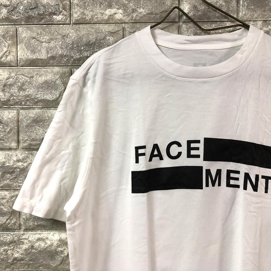 新品 FACETASM ファセッタズム × FRAGMENT THE CONVENI フラグメント ザ・コンビニ 【Lサイズ】 FACE/MENT TEE Tシャツ 半袖 藤原ヒロシ