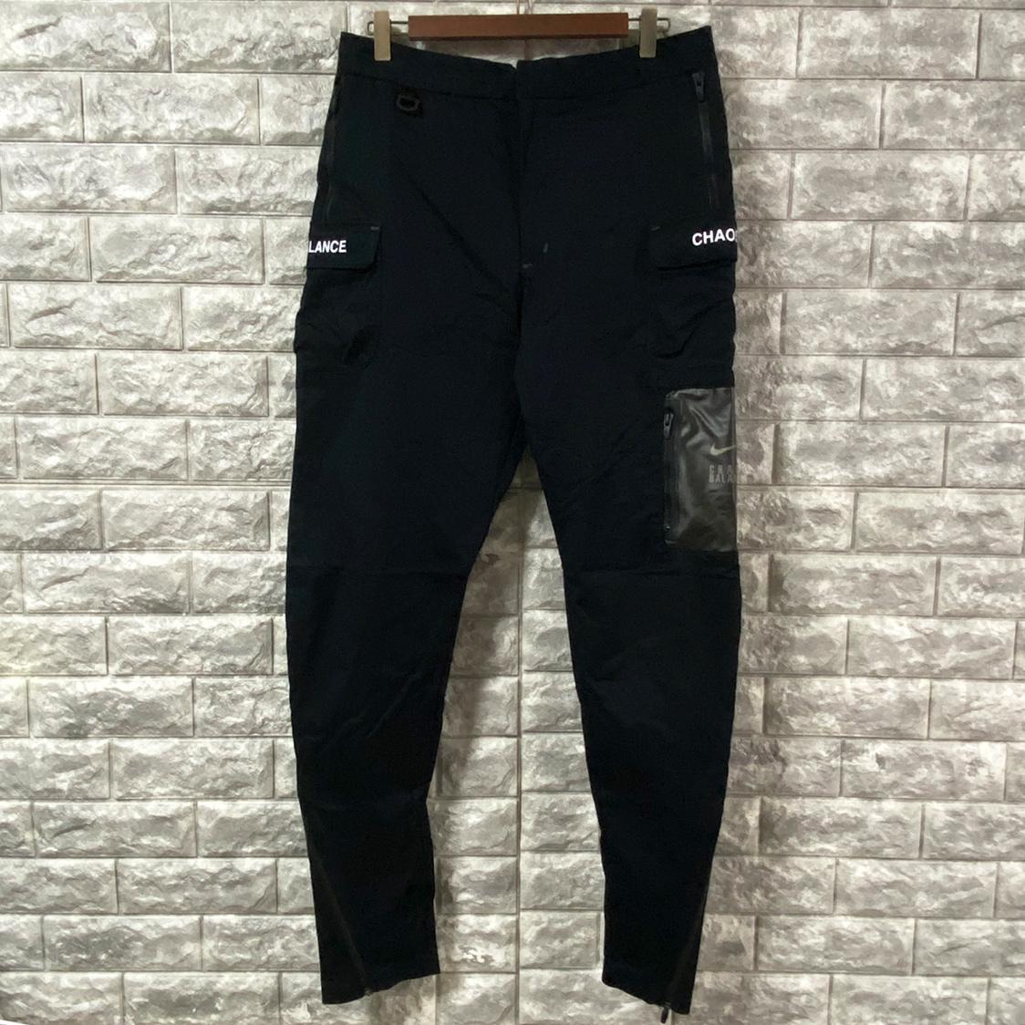 新品 NIKE LAB ナイキ × UNDERCOVER アンダーカバー 【サイズM】 CARGO PANTS Black カーゴパンツ ブラック