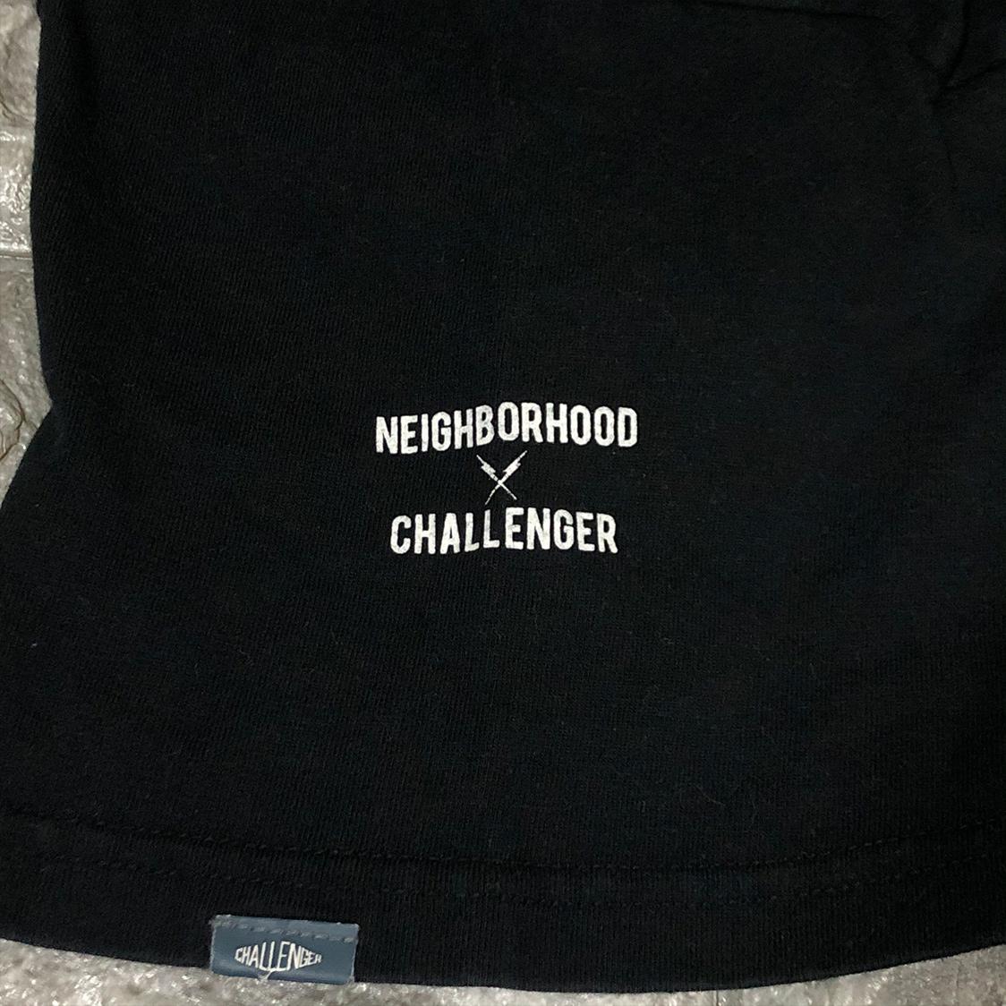 NEIGHBORHOOD ネイバーフッド × CHALLENGER チャレンジャー 【Sサイズ】 半袖 Tシャツ ブラック カットソー