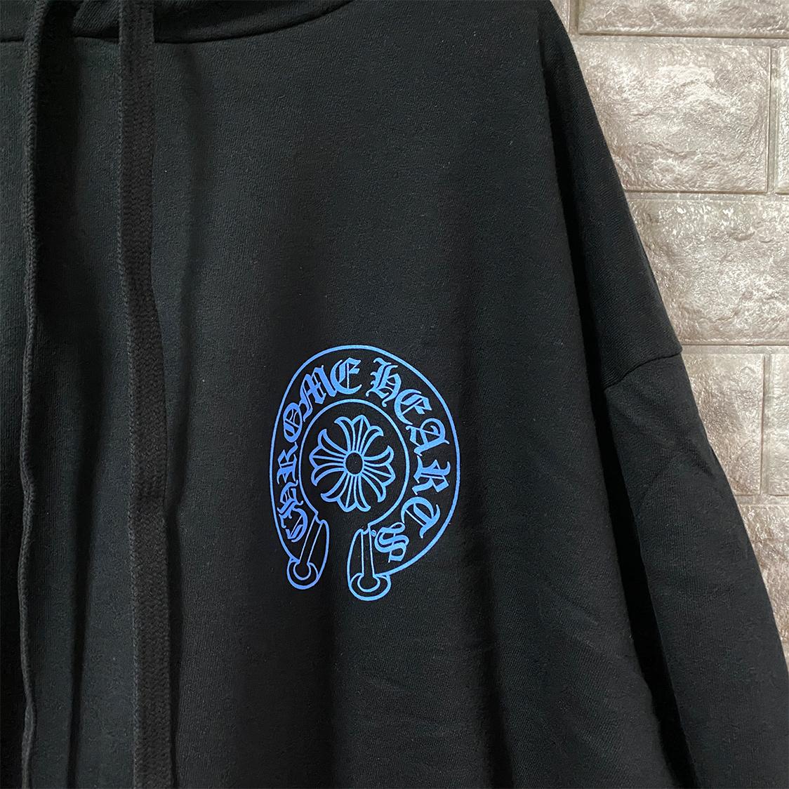 希少 新品 クロムハーツ CHROMEHEARTS 【XLサイズ】 プルオーバー パーカー フーディ ブルー ゲリラ販売