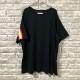新品 FACETASM ファセッタズム リブ Tシャツ カットソー サイズ00 ビッグシルエット ワイドシルエット ブラック フリー バックプリント