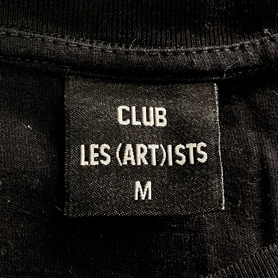 CLUB LES(ART)ISTS レスアーティスト 【Mサイズ】 ナンバリング Tシャツ 半袖 ブラック
