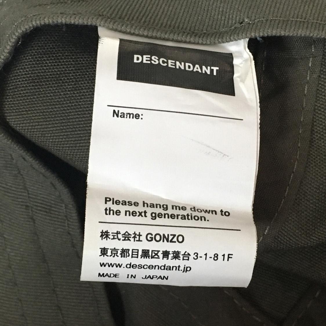 DESCENDANT ディセンダント【Fサイズ】BOX FIVE PANEL CAP 5パネル キャップ ボックスロゴ カーキ / WTAPS ダブルタップス