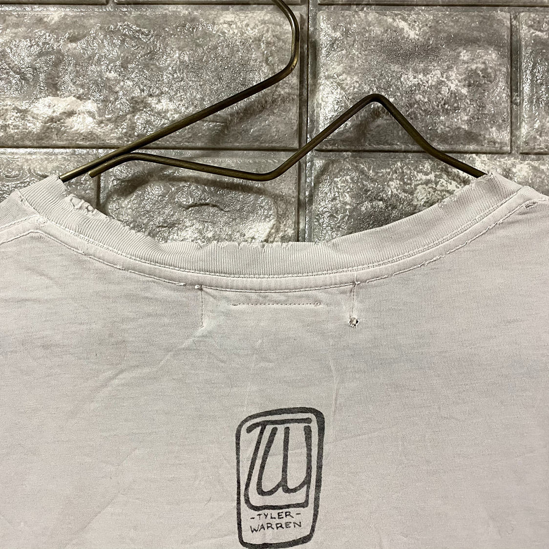 REMI RELIEF レミレリーフ 【Sサイズ】 スカル クラッシュ加工 ダメージ加工 Tシャツ カットソー 半袖 ホワイト
