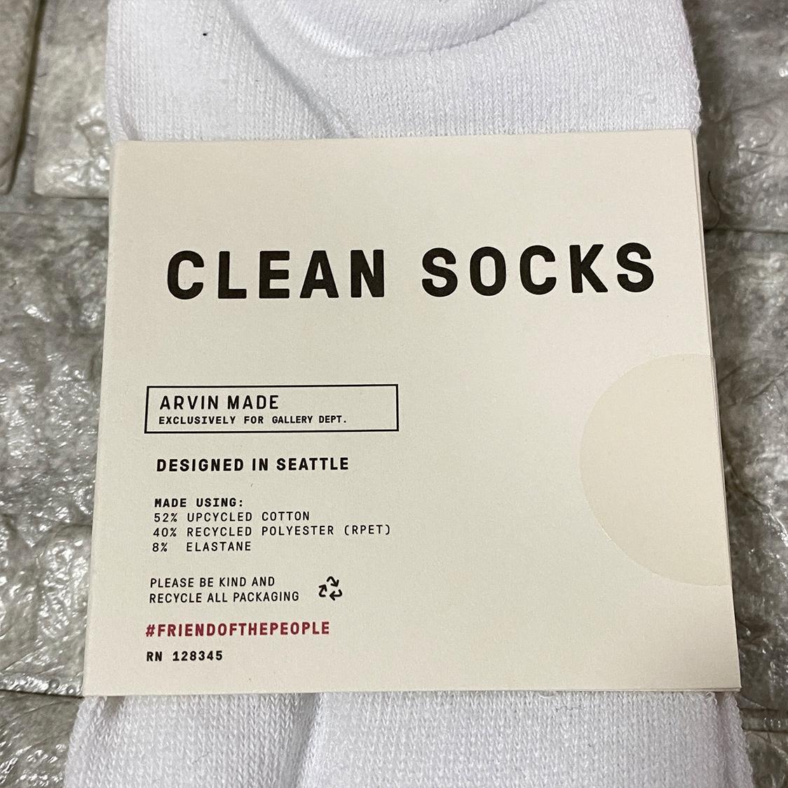 新品 GALLERY DEPT. ギャラリーデプト Clean Socks ロゴ ソックス 靴下 ホワイト メンズ靴下