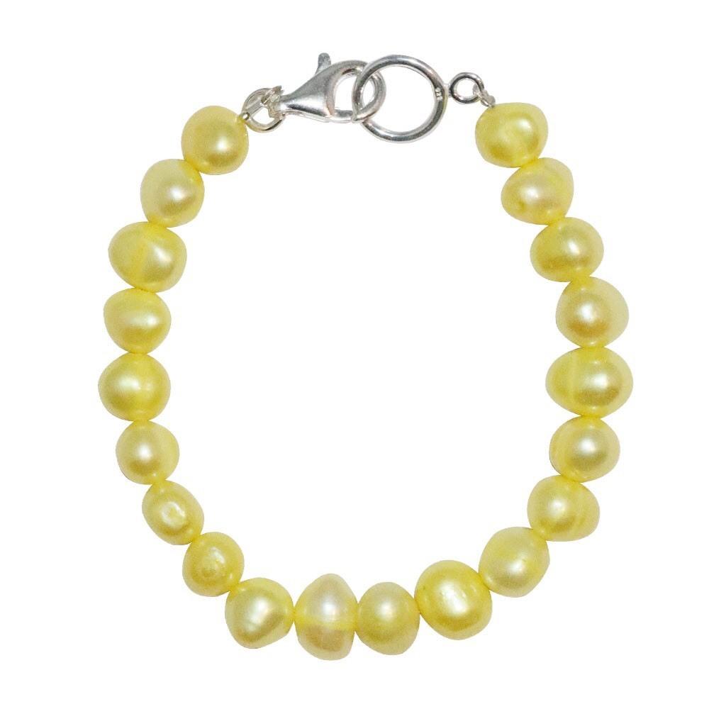 新品 SPARKING スパーキング yellow pearl bracelet イエロー パール ブレスレット
