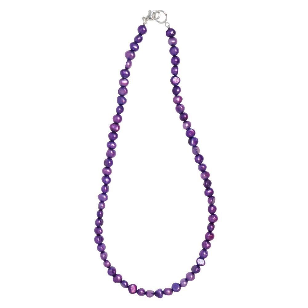 新品 SPARKING スパーキング lavendor pearl necklace ラベンダー パール ネックレス チェーン