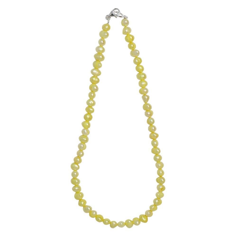 新品 SPARKING スパーキング yellow pearl necklace イエローパール ネックレス チェーン