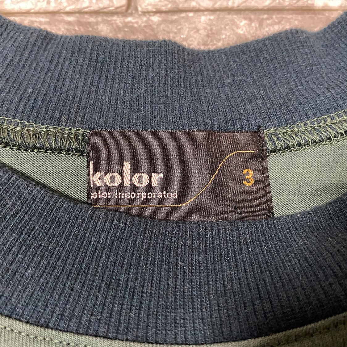 kolor カラー 【サイズ3】 ロング カットソー ロンT Tシャツ グリーン / sacai サカイ