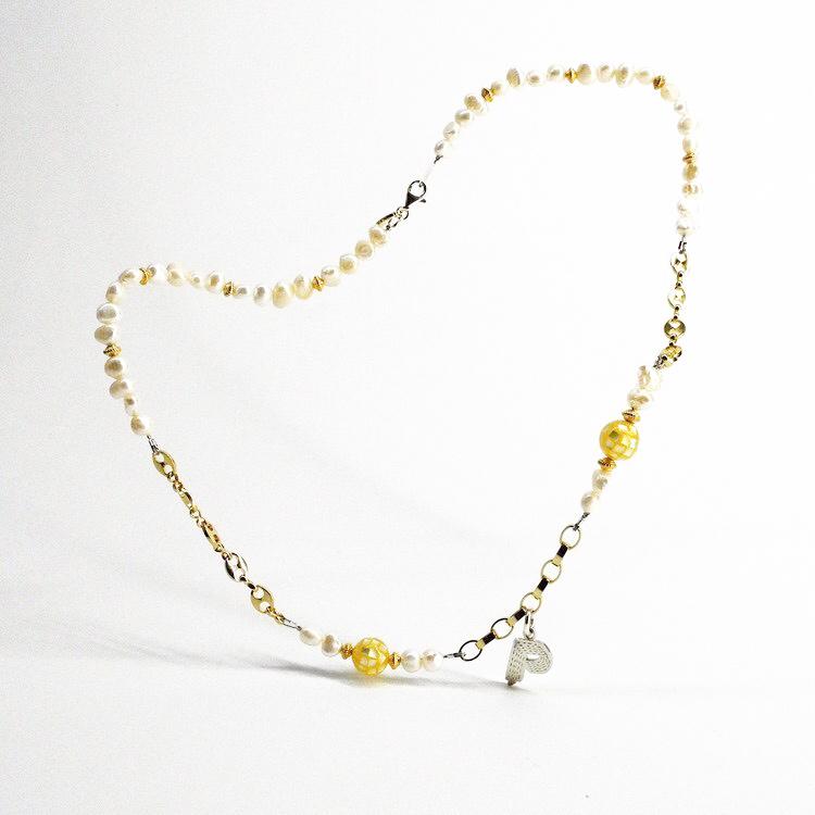 新品 SPARKING スパーキング × Philly フィリー mirror ball pearl necklace コラボレーション ミラーボール パール ネックレス チェーン