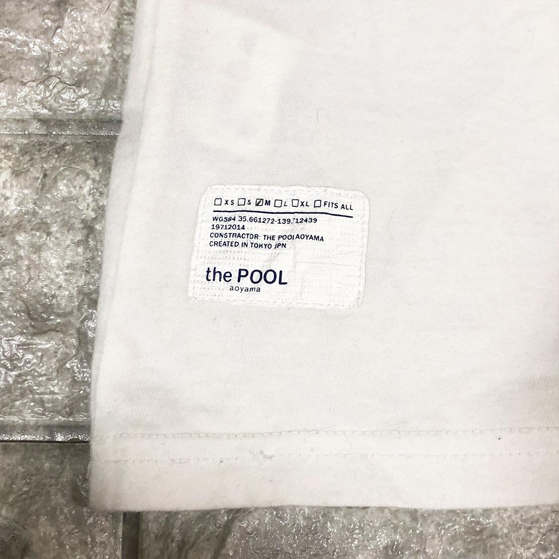 the POOL Aoyama ザ プール アオヤマ Tシャツ サイズM 半袖 カットソー アーチロゴ ホワイト フラグメント 藤原ヒロシ