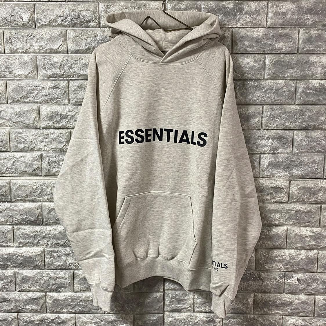 新品 FOG Fear Of God Essentials フェアオブゴッド エッセンシャルズ 【Mサイズ】 LOGO パーカー フーディ エッセンシャル オートミール OATMEAL フォグ【ジェリーロレンゾ着】
