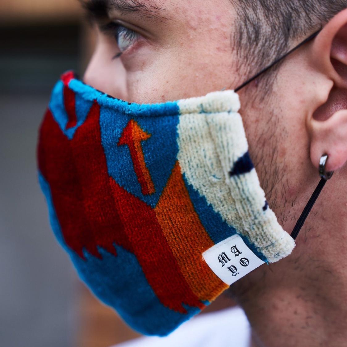 新品 MAYO メイヨー Rebuilding mask pendleton 再構築 ペンドルトン マスク ターコイズ