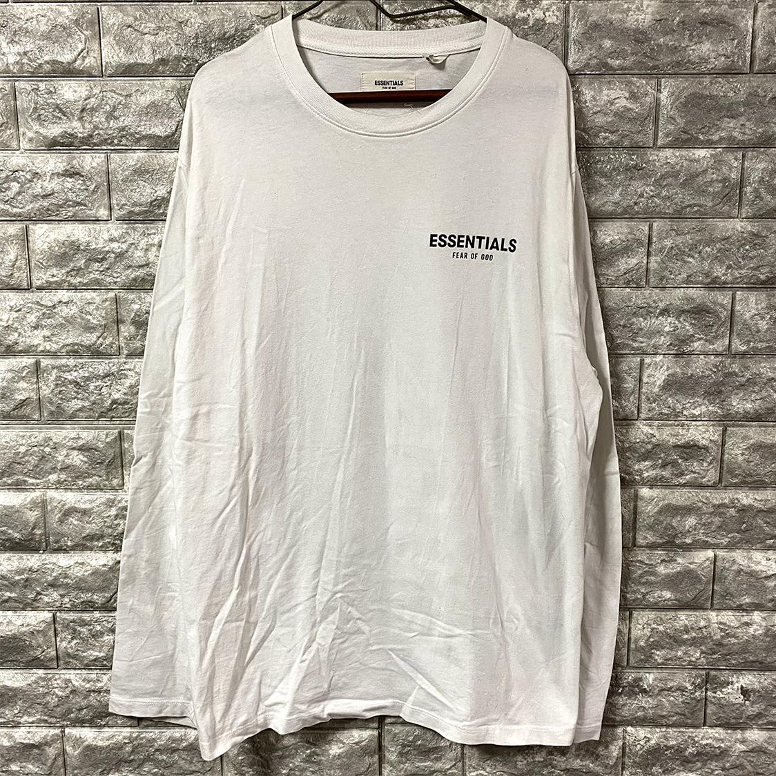正規品 FOG ESSENTIALS フォグ エッセンシャルズ 【Sサイズ】 ロンT ロングTシャツ fear of god PACSUN ホワイト