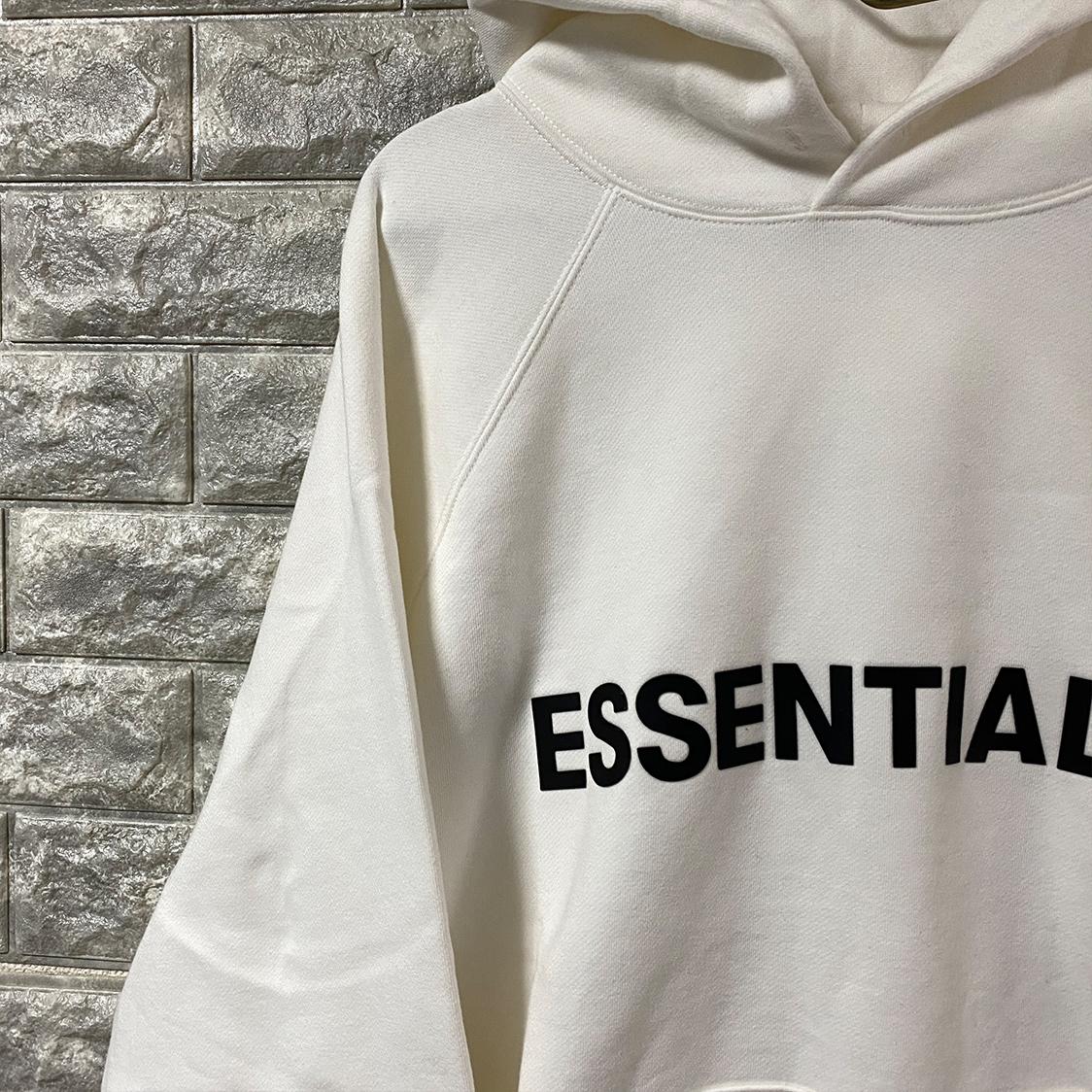 新品 FOG Fear Of God Essentials フェアオブゴッド エッセンシャルズ 【Mサイズ】 LOGO パーカー フーディ エッセンシャル WHITE ホワイト フォグ【ジェリーロレンゾ着】