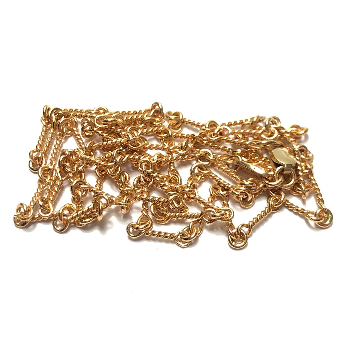 クロムハーツ CHROME HEARTS 22K ツイストチェーン 24インチ ネックレス ゴールド 約62cm