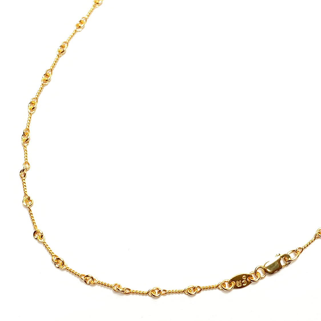 クロムハーツ CHROME HEARTS 22K ツイストチェーン 20インチ ネックレス ゴールド 約50.8cm