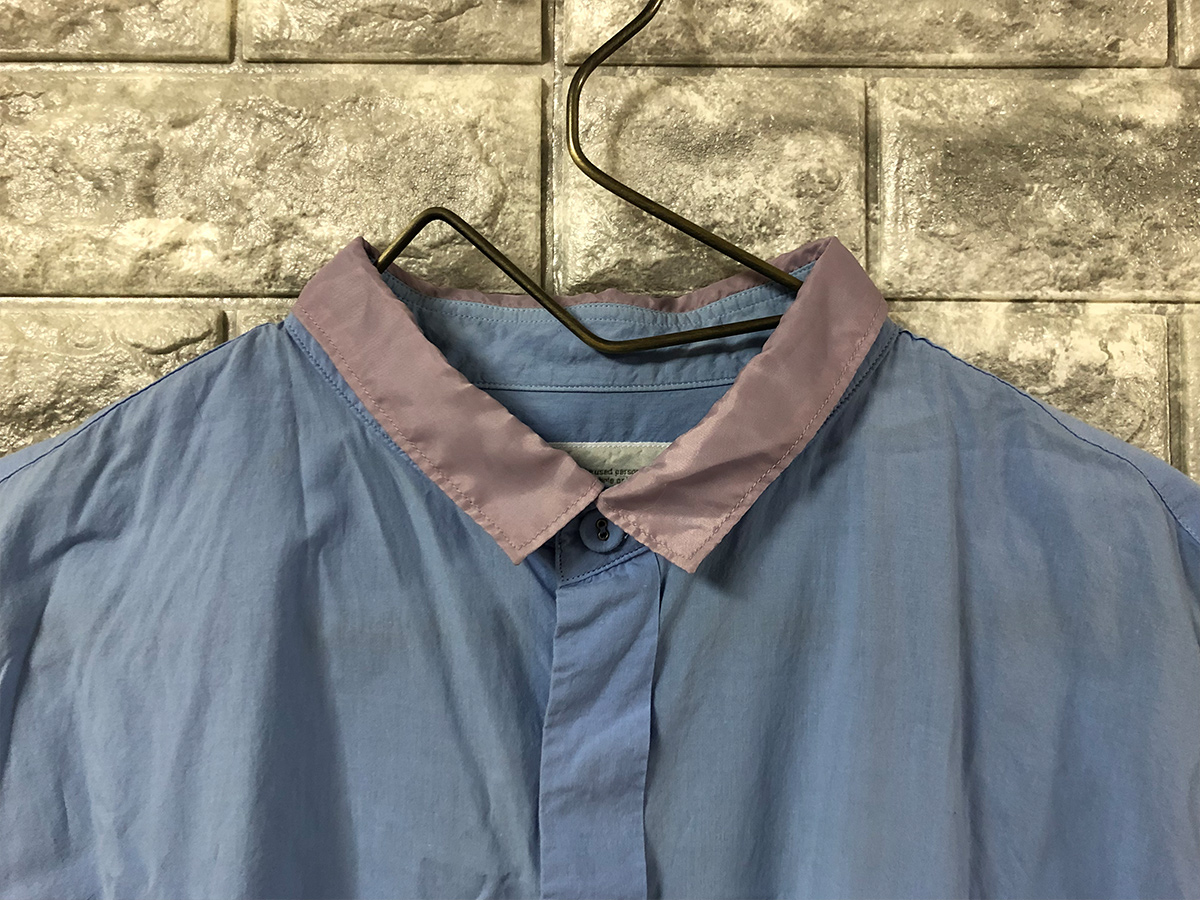 kolor カラー 長袖 シャツ コットン サイズ3 水色 ライトブルー パープル