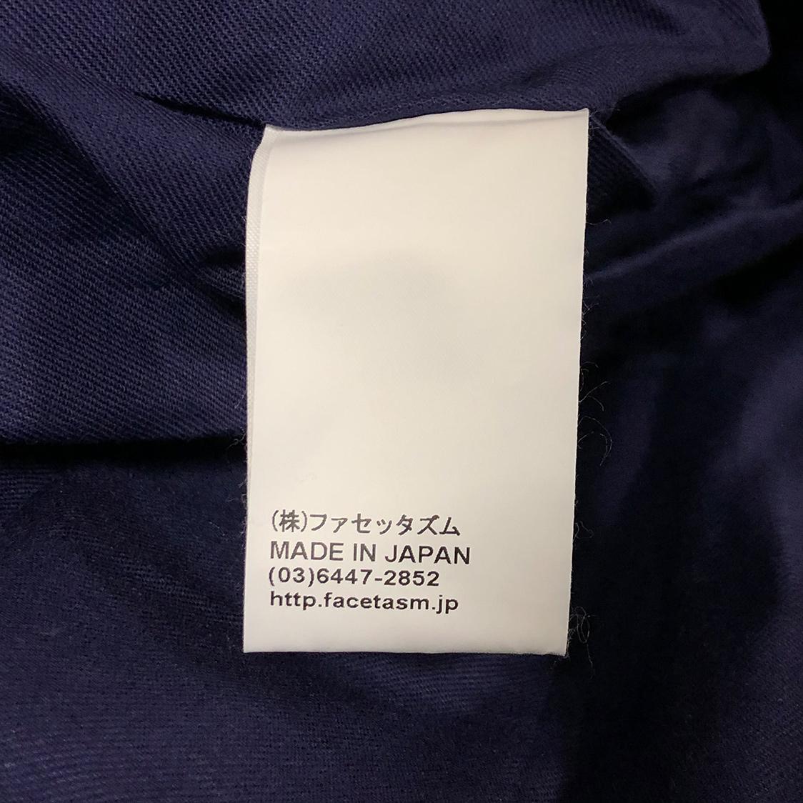 新品 希少 FACETASM ファセッタズム【サイズ3】イーグル 刺繍 コーチジャケット ビッグシルエット ワイドシルエット ネイビー