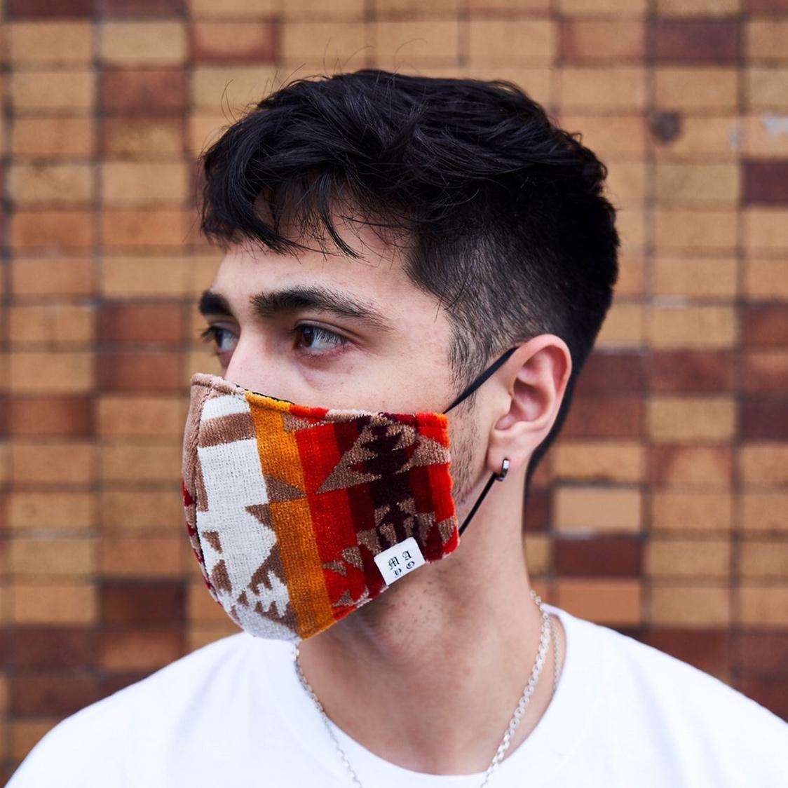 新品 MAYO メイヨー Rebuilding mask pendleton 再構築 ペンドルトン マスク ブラウン