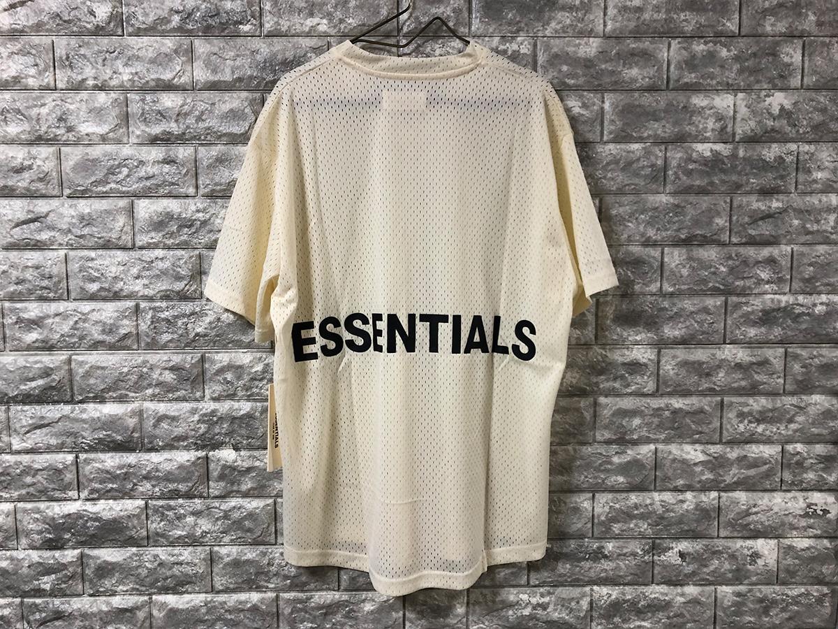 新品【Sサイズ】 FOG Fear Of God Essentials フェアオブゴッド エッセンシャル Mesh T-Shirt メッシュTシャツ カットソー ホワイト