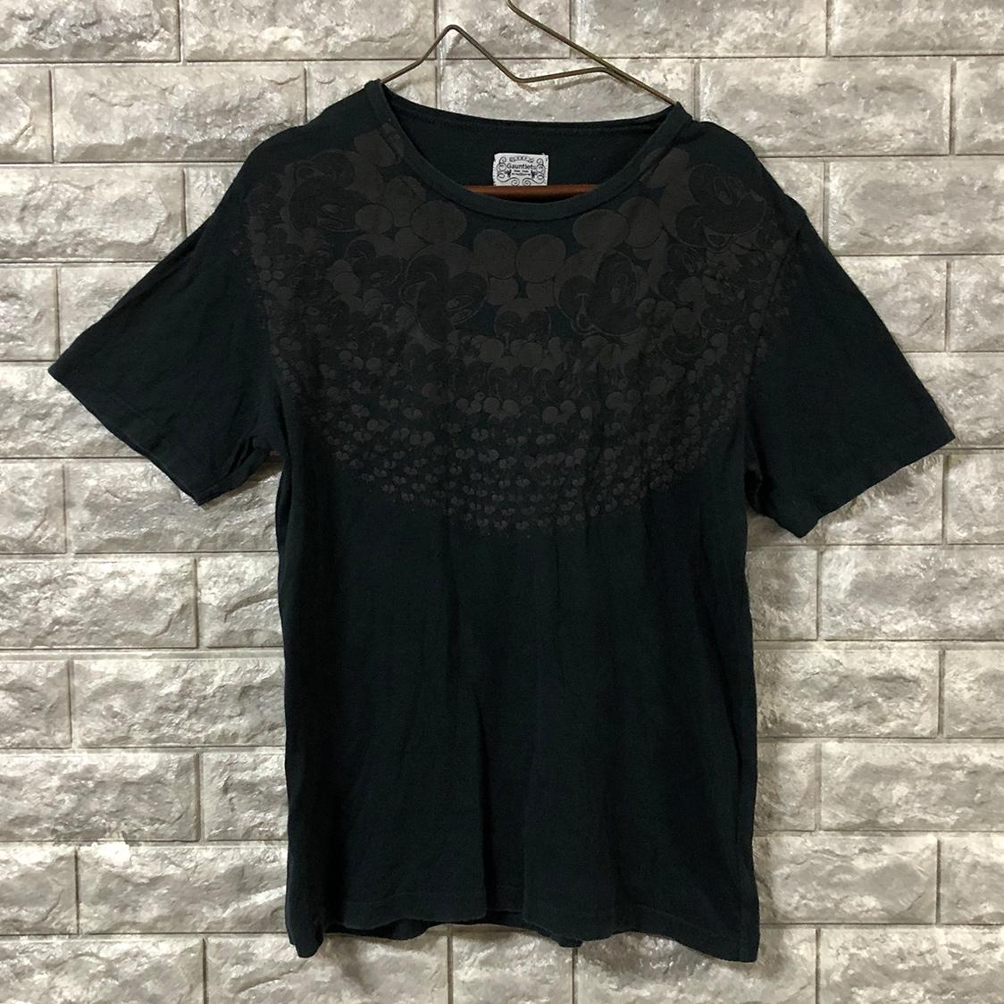 Gauntlets ガントレッツ × Disney ディズニー【Mサイズ】 半袖 Tシャツ ブラック ガントレット