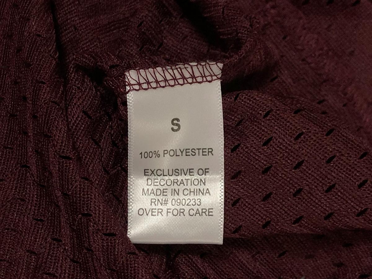 新品【Sサイズ】 FOG Fear Of God Essentials フェアオブゴッド エッセンシャル Mesh T-Shirt メッシュTシャツ カットソー エンジ