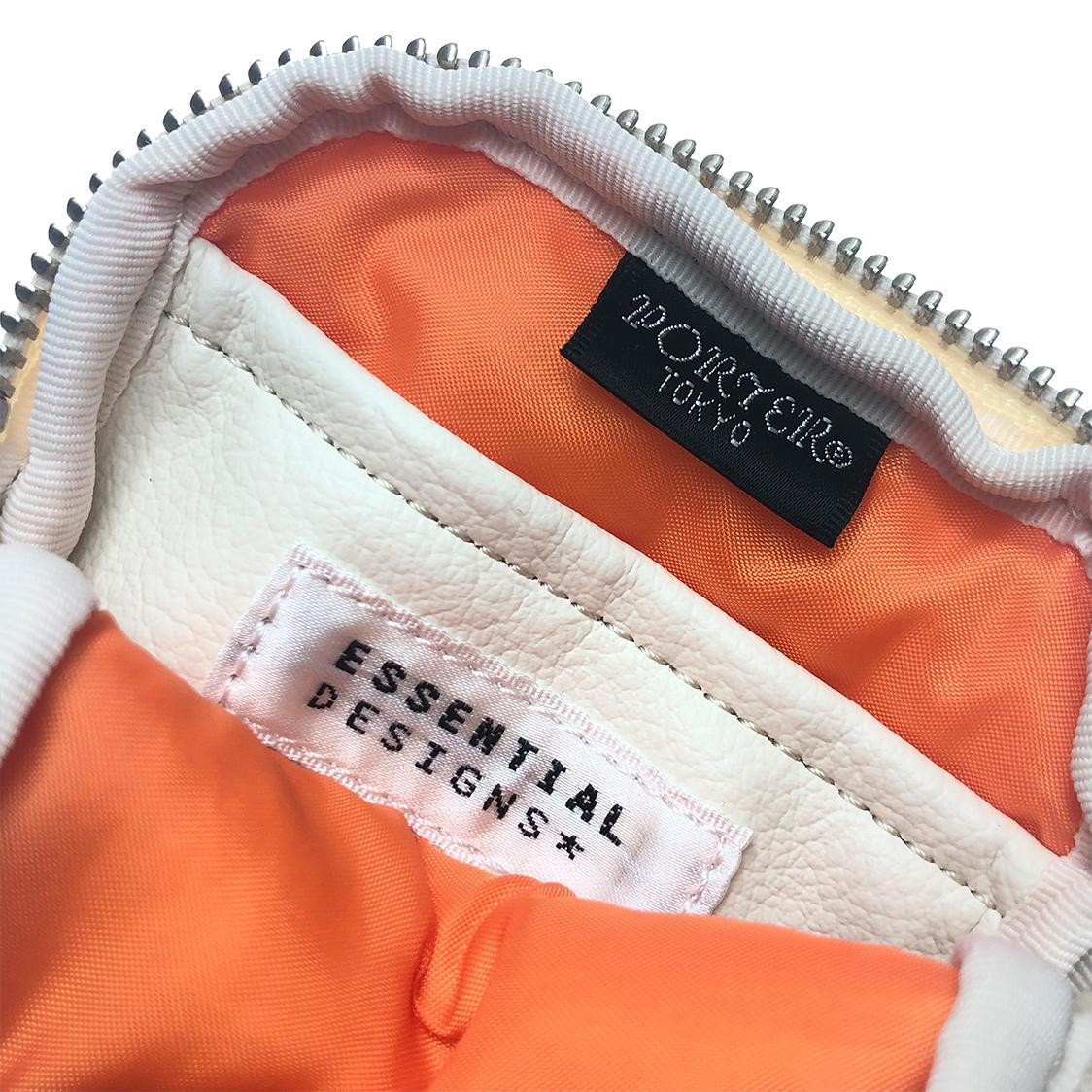 ポーター porter × ESSENTIAL DESIGNS エッセンシャルデザイン コインケース オレンジ 小銭入れ サイフ 財布 吉田カバン