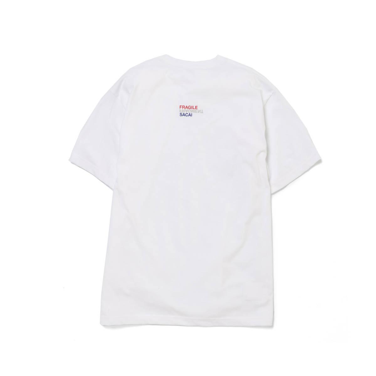 sacai サカイ × fragment designフラグメント デザイン Tシャツ Size3 white 藤原ヒロシ